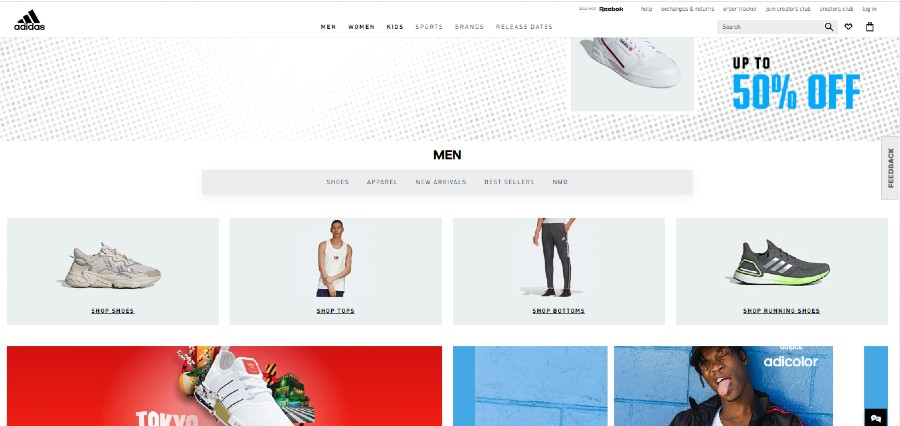 Adidas Offical Shoe Store Website