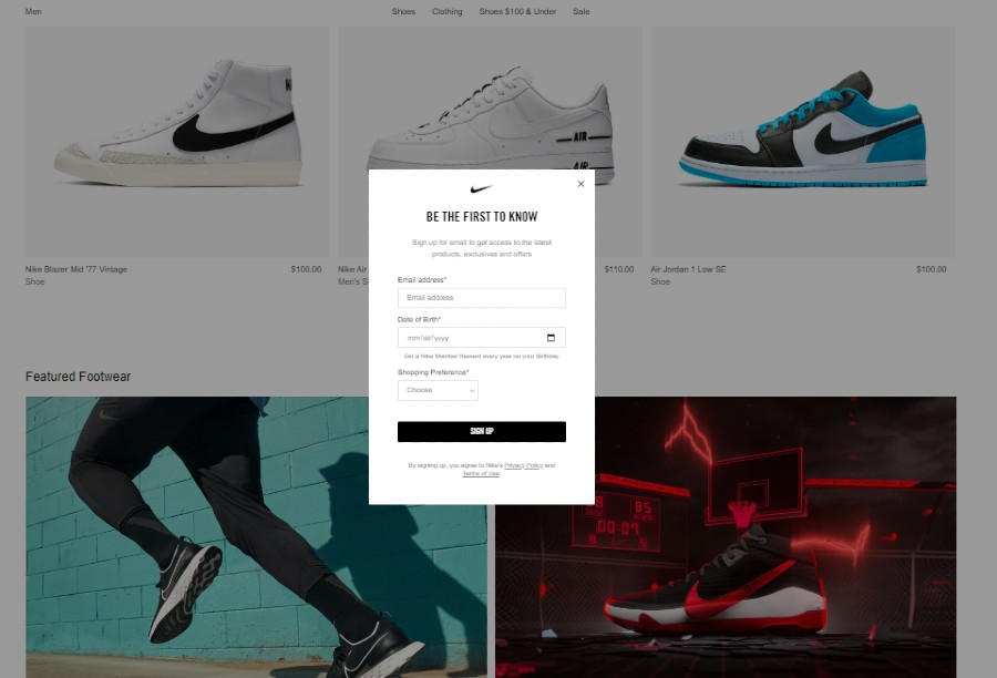 Nike Official Store Website