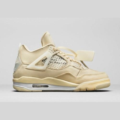 Off White X Air Jordan 4 Sp Sail Sneakers