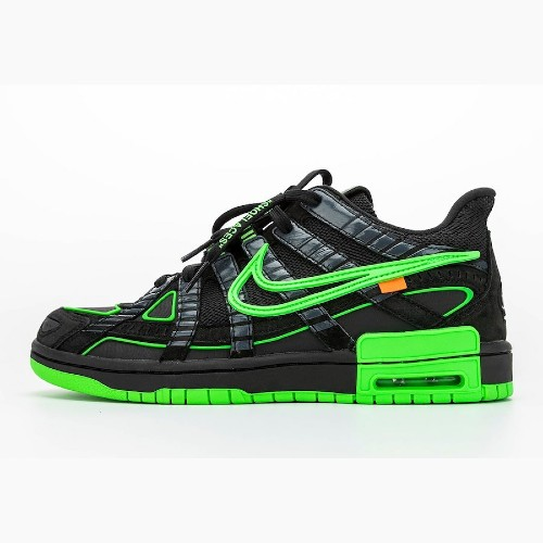 Off White X Nike Air Rubber Dunk Green Strike